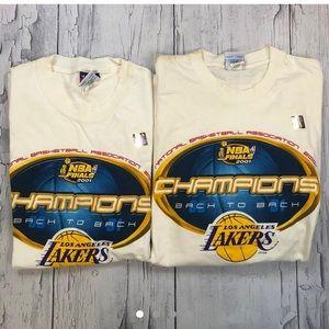 Vintage Y2K La Lakers T shirt Lot 2001' dead stock